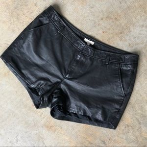Joie Leather Shorts